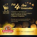 Carrinho AGAS 2018 - Superpan eleita pela quarta vez como Melhor Fornecedor de Pães e Salgados 2