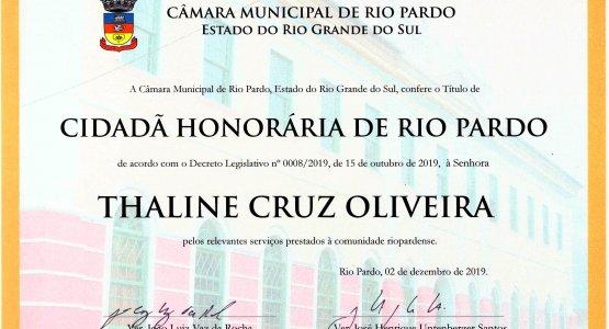 Diretora Financeira da SUPERPAN recebe título de Cidadã Honorária de Rio Pardo. 27