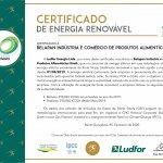 Superpan recebe Certificado de Energia Renovável.