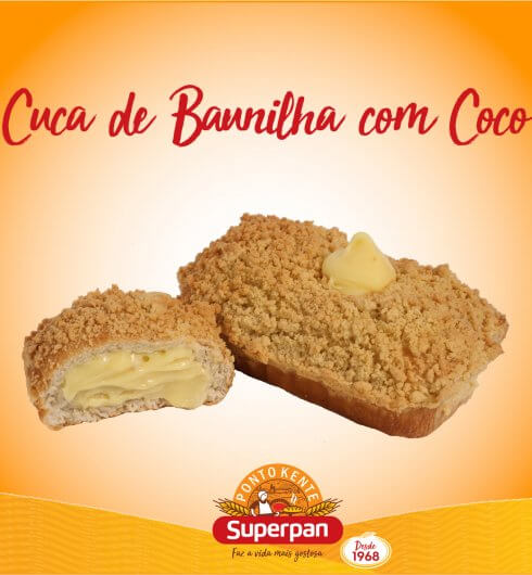 Cuca de Baunilha com Coco