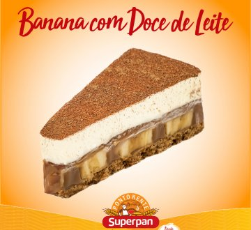 Torta Banana com Doce de Leite