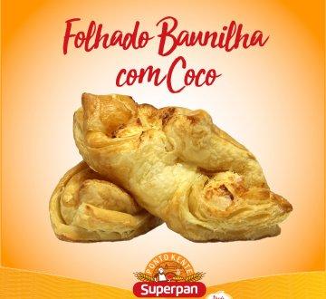 Folhado Baunilha com Coco
